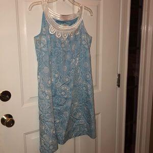 Loft Anne Taylor baby blue summer dress